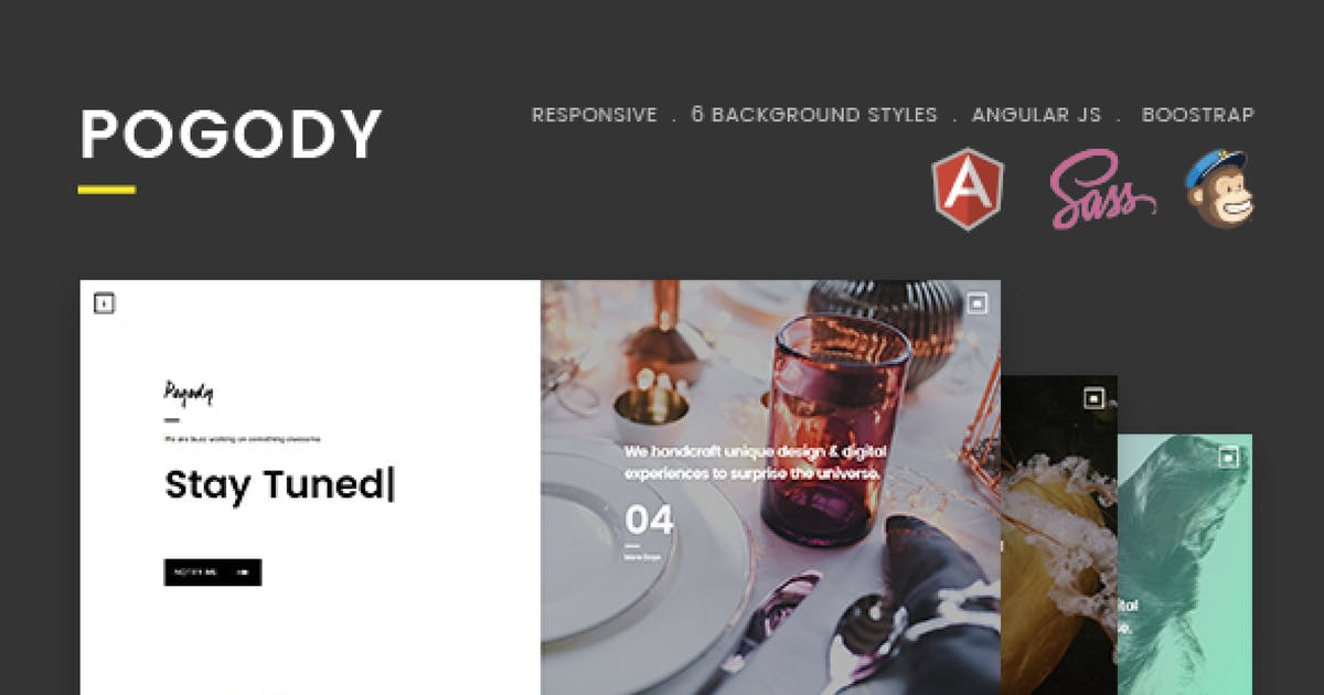 Download Pogody – Responsive HTML5 Coming Soon Template by Hencework