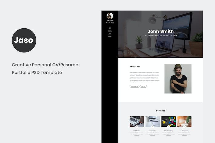 Thumbnail for Jaso - Creative Personal CV/Resume Portfolio