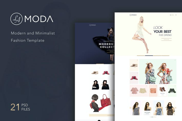 Cover Image For LaModa Fashion Template PSD