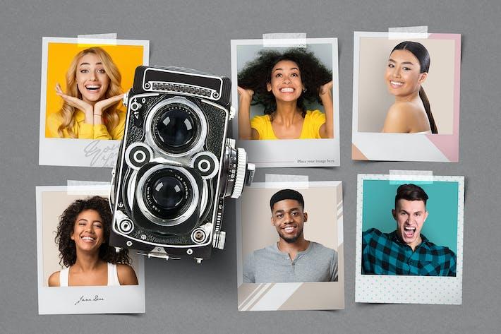 Thumbnail for Blank Instant Photo Frame Mockup