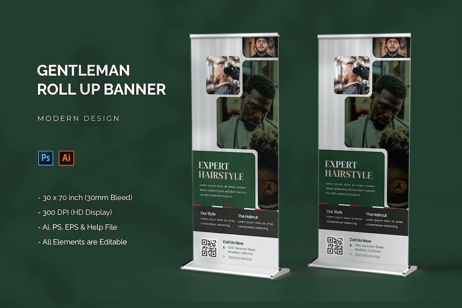Gentleman Barber - Roll Up Banner