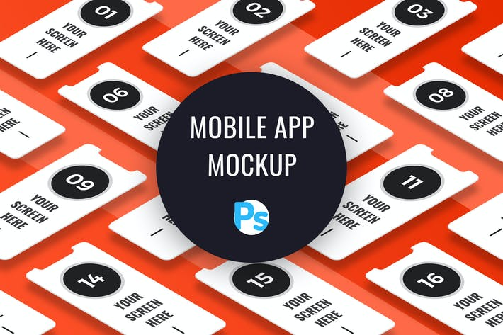 Thumbnail for Mobile App Presentation Mockup