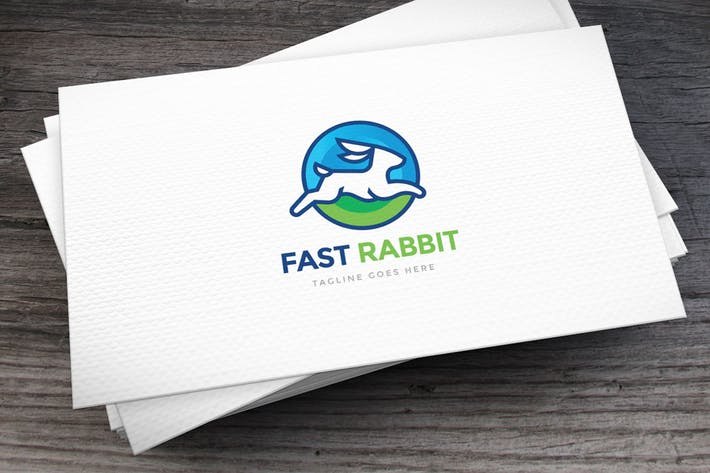 Thumbnail for Fast Rabbit Logo Template