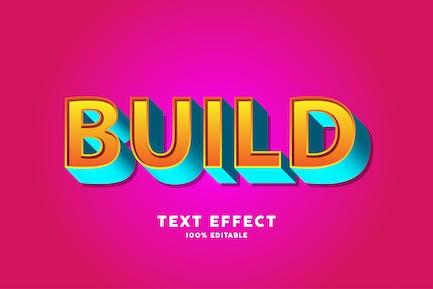 Efecto de creación de texto