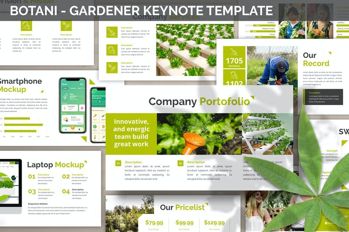 Thumbnail for Botani - Gardener Keynote Template