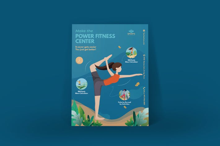 Thumbnail for Sport Activities Poster Illustration Template