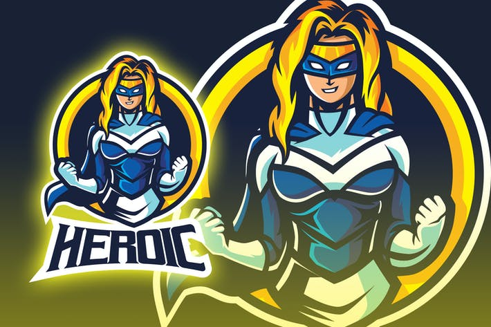 Thumbnail for Logo Esport Superhéros féminin