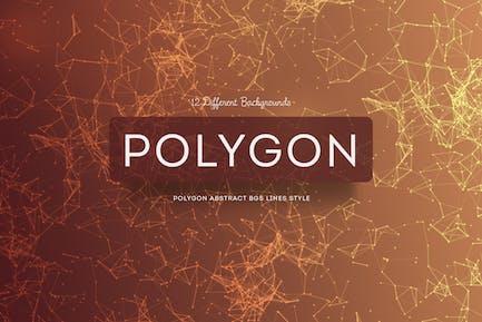 "Linienart ""Polygon Abstrakte Hintergründe"""