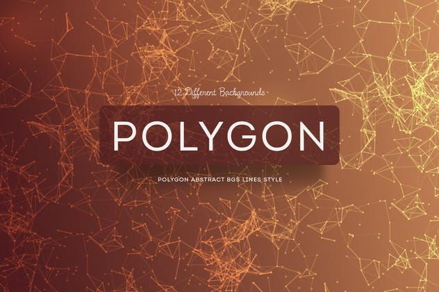 Polygon Abstract Backgrounds Lines Style