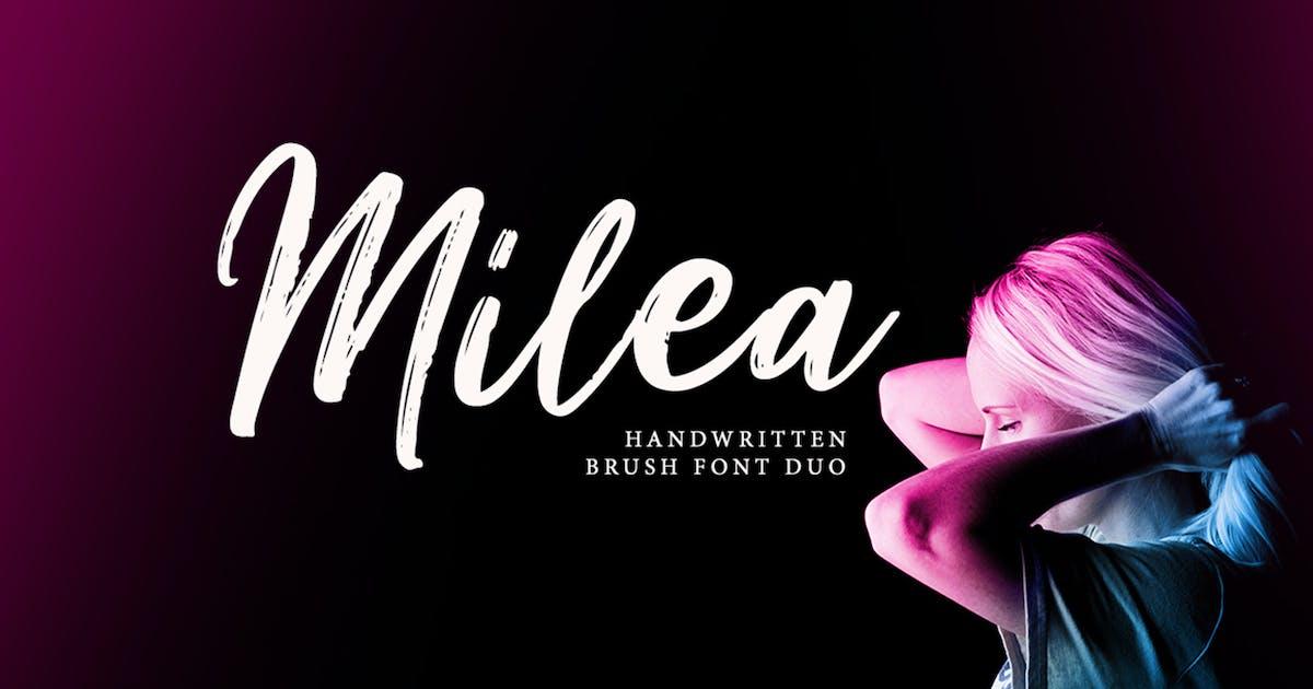 Download Milea - Handwritten Brush Font Duo by weapedesign