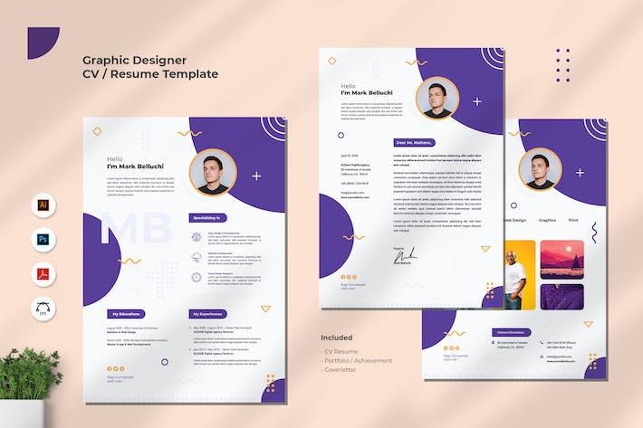 Thumbnail for Web Developer CV Resume