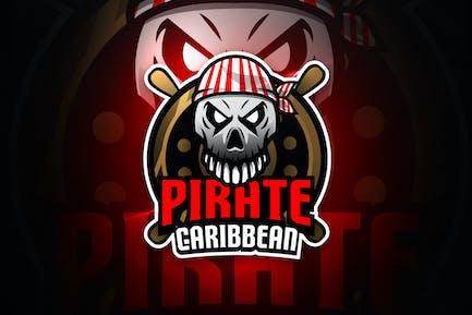 Piraten Karibik - Maskottchen & Esport Logo