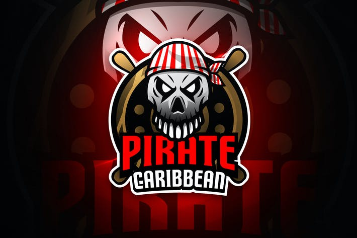 Thumbnail for Pirate Caribbean - Mascot & Esport Logo