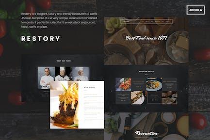 Реистория - Ресторан и кафе Joomla Шаблон