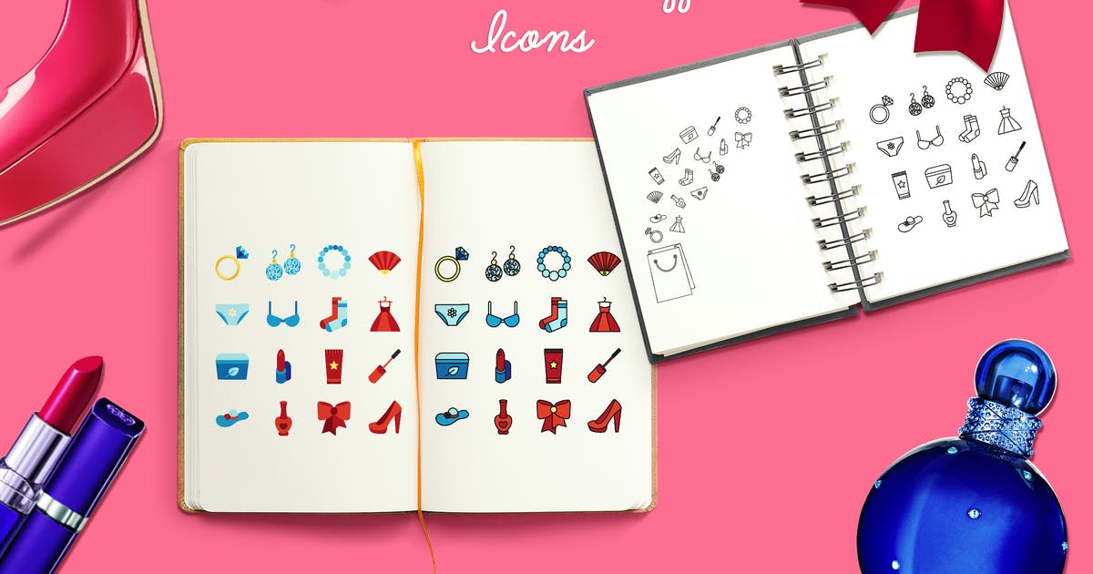 Women's Stuff Icons And Patterns by barsrsind