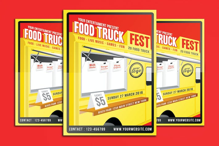 Thumbnail for Food Truck Festival Flyer Poster