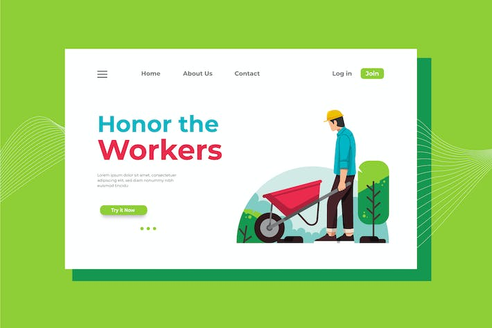 Thumbnail for Honor the Workers Landing Page Illustration