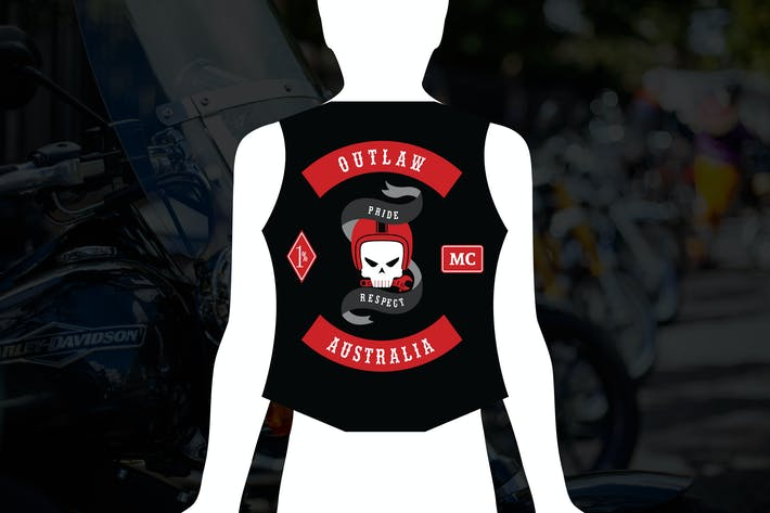 Outlaw : One Percenter Moto Club Logo
