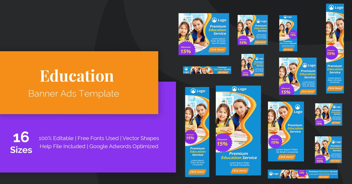 Education Banner Ads Template By Muse Master On Envato Elements