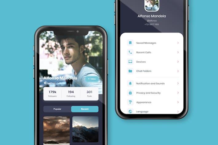 Thumbnail for User Profile Screen Design Concept