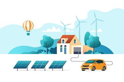 Konzept umweltfreundlicher alternativer Energie
