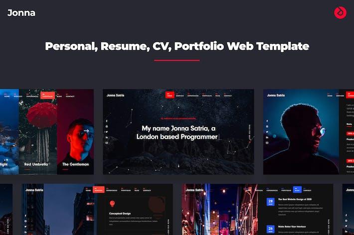 Thumbnail for Jonna -  Onepage Personal, Resume, & Portfolio