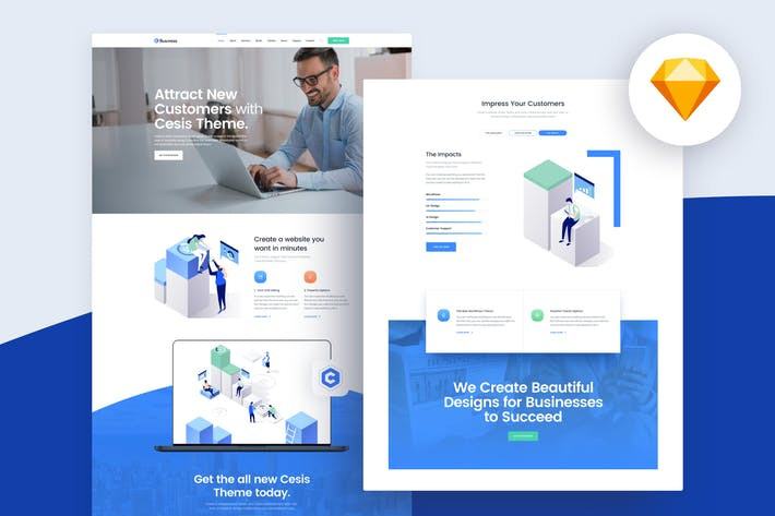 Thumbnail for Yosemite - Business Sketch App Website Template
