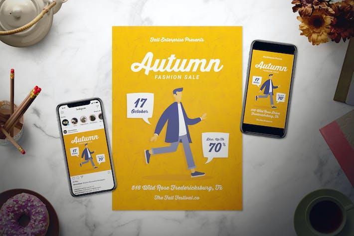 Thumbnail for Autumn Fashion Flyer Set