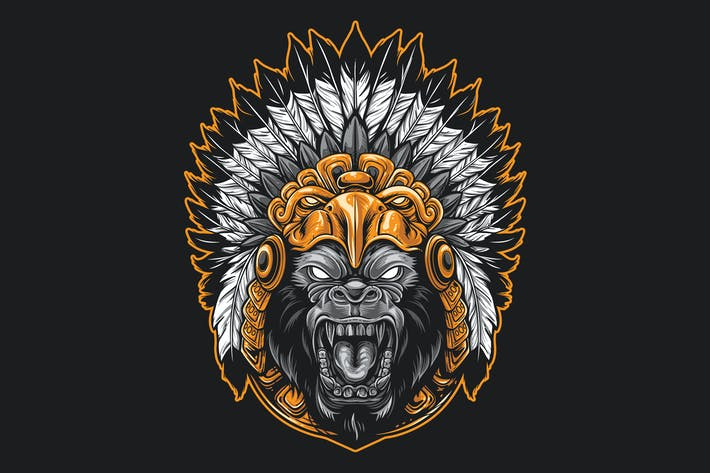 Thumbnail for Gorilla Aztec Warrior