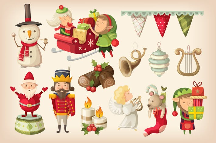 Thumbnail for Kit de artículos de Navidad de colores. Parte 2