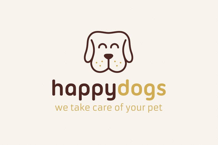 Cover Image For Happy Dog Logo
