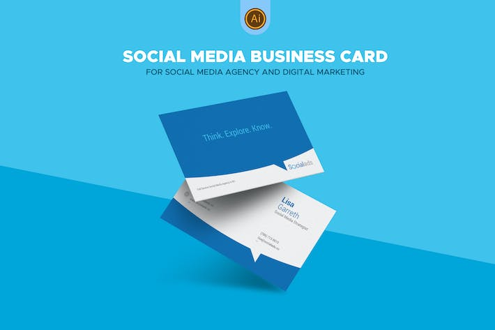 Thumbnail for Social Media Agency Business Card