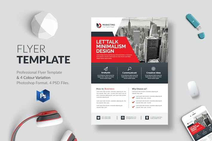 Thumbnail for Business Flyer Template 30