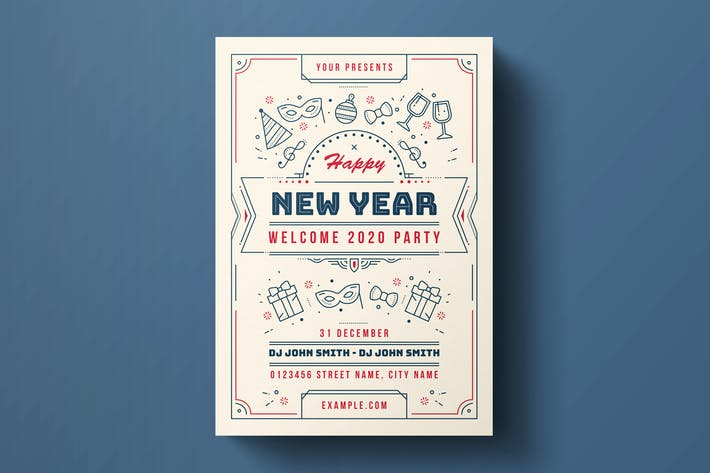 Thumbnail for Happy New Year Flyer Template