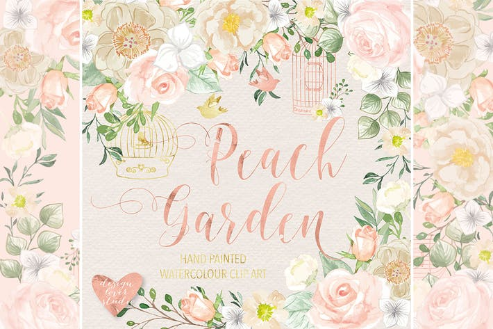 Thumbnail for Peach garden vector