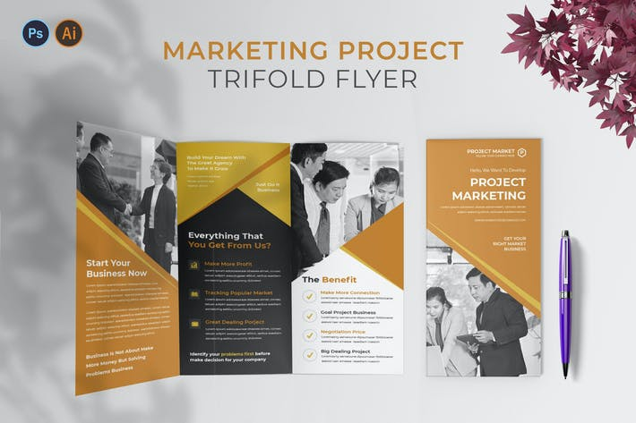 Thumbnail for Projet de marketing — Brochure triples