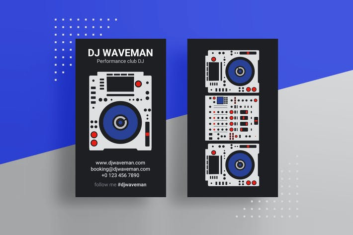 Thumbnail for Pro DJ Business Card PSD Template