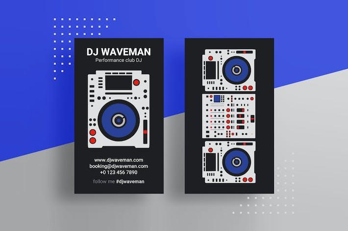 Thumbnail for Pro DJ визитная карточка PSD Шаблон