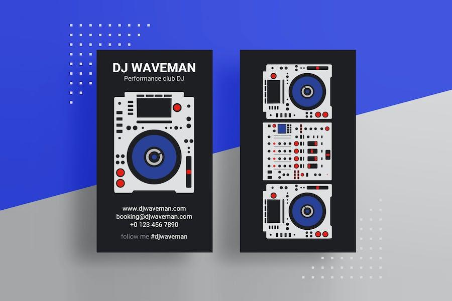 Pro DJ Business Card PSD Template