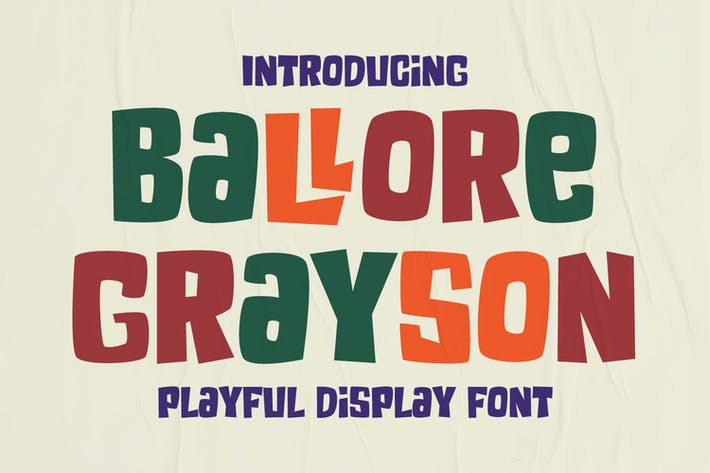 Thumbnail for Ballore Grayson - Fun Display Font