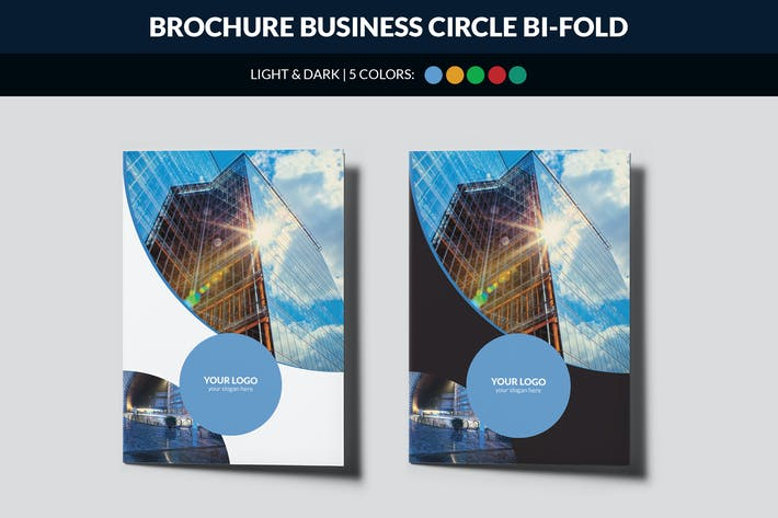 Thumbnail for Brochure Business Circle Bi-Fold