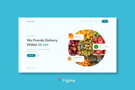 Fresh Mart - Grocery Header Design Figma