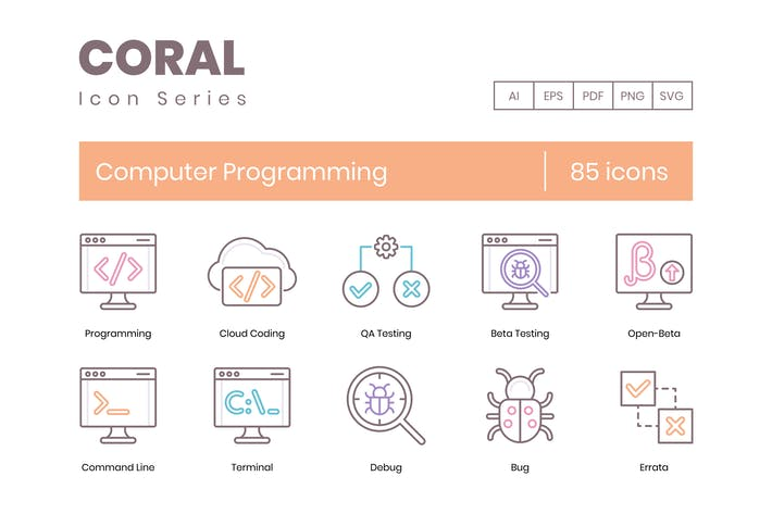 Thumbnail for 85 Computer-ProgrammierzeilenIcons