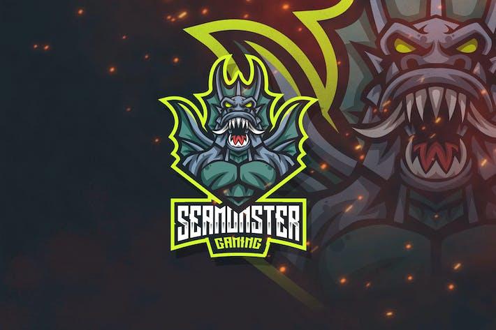 Thumbnail for Sea Monster Esport Logo Template
