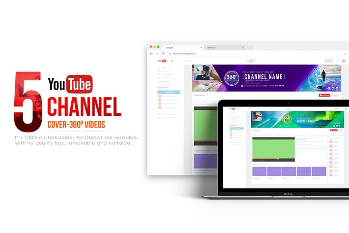 Thumbnail for 360 Video Channel - Youtube Banner Template