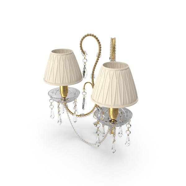 2 Bulb Wall Classical Lamp With Shades