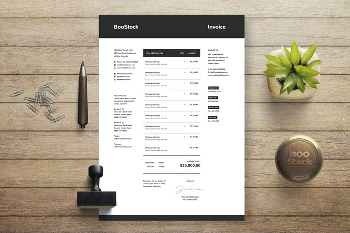 Thumbnail for Invoice Template 25