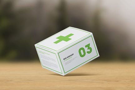 Package Box Mock-up: Flat Square Box
