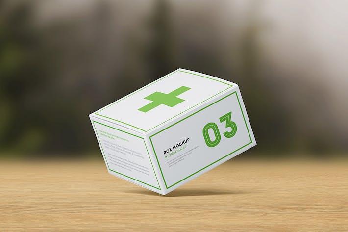 Verpackungsbox Mock-up: flache quadratische Box