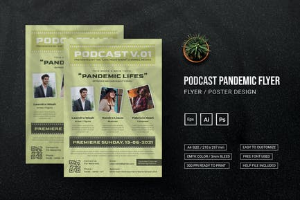 Podcast Pandemic - Flyer